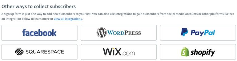 AWeber has advance signup forms using Facebook, WordPress etc