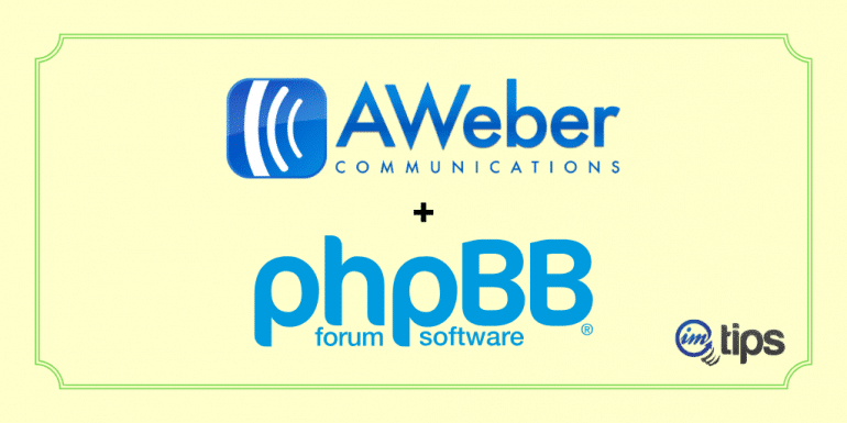 Integrate AWeber with phpBB