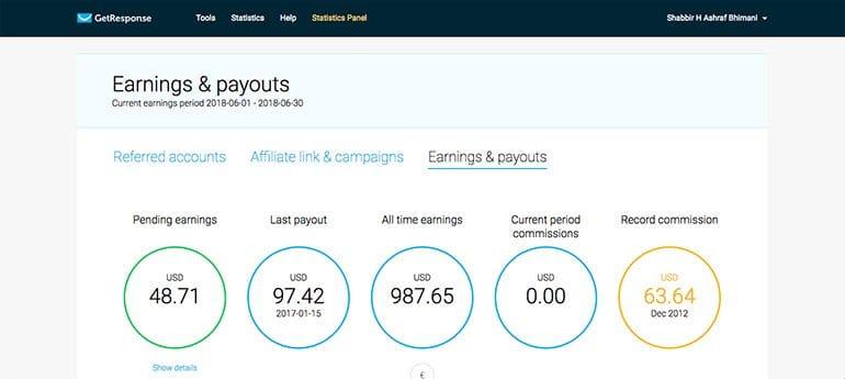 getresponse recurring earning affiliate program