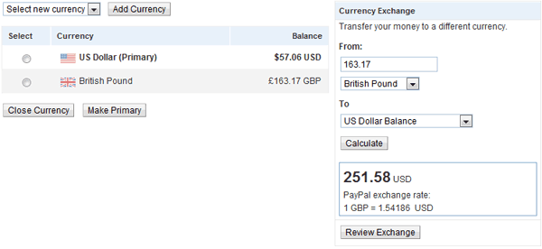 Accept Multiple Currency Payment in PayPal