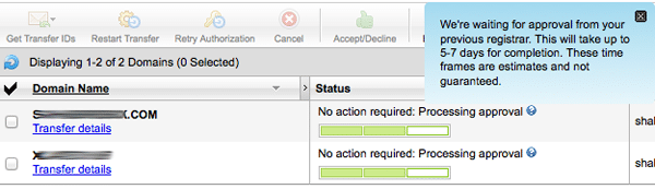 Namecheap to GoDaddy Process Transfer