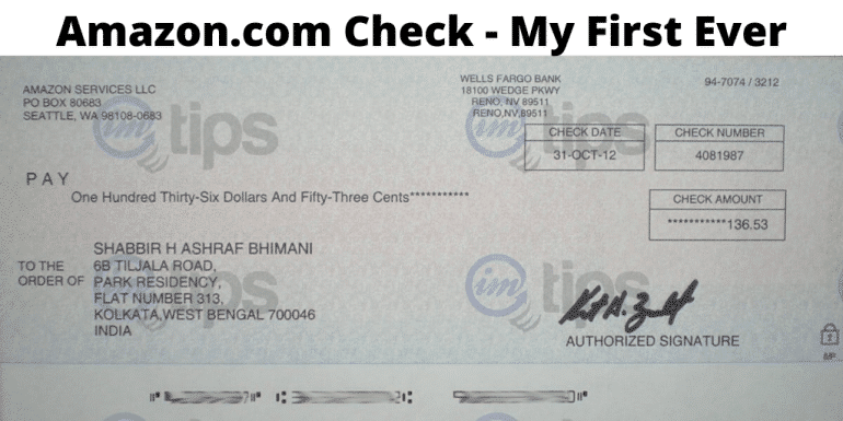 Amazon.com Affiliate Earnings Check In India – My First Ever