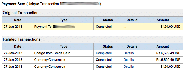 Paypal Indian Payment in Rupees