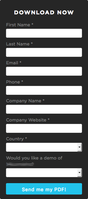 simple form to increase user signups