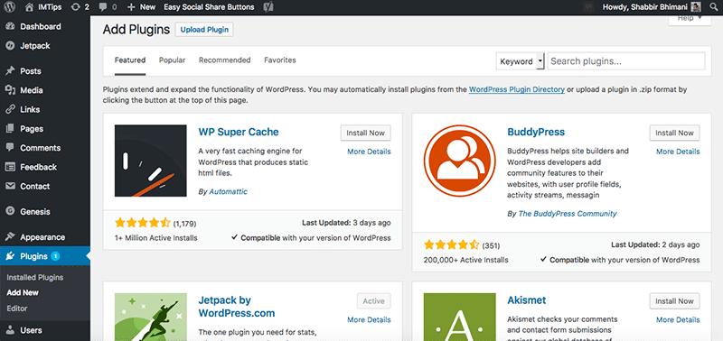 Add Plugins to Customize the WordPress website further