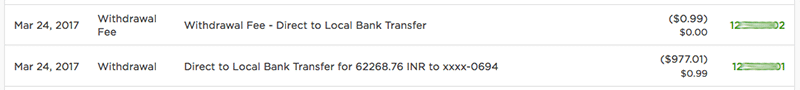Upwork Amount Being Deposited into HDFC Bank