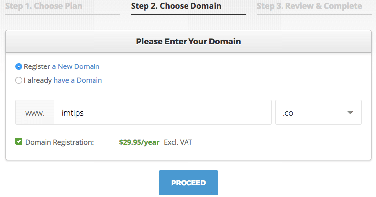 Domain selection for starting a blog