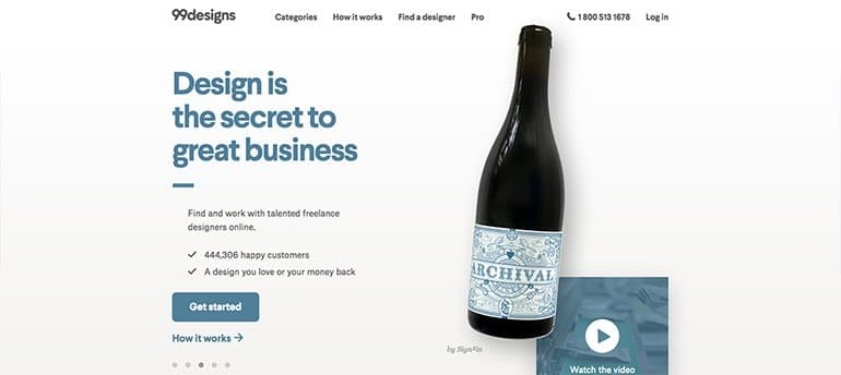 freelancing site for designers 99designs