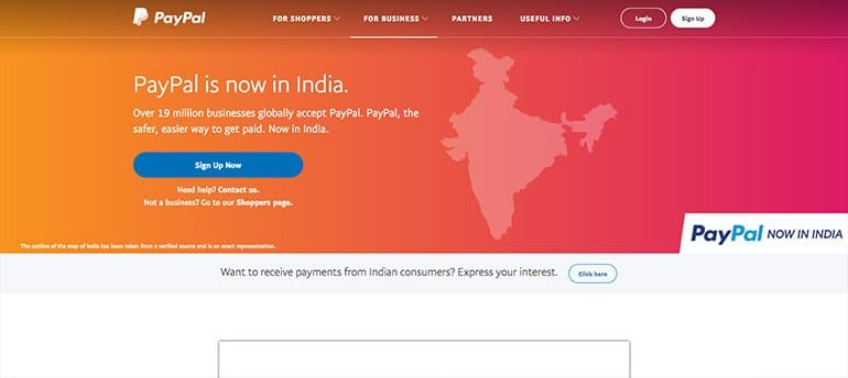 PayPal to Receive Payments in India and a Payoneer Alternative