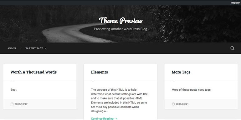 Baskerville WordPress Themes Freelancer Portfolio