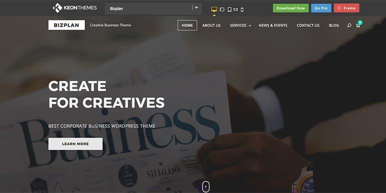 Bizplan WordPress Themes Portfolio