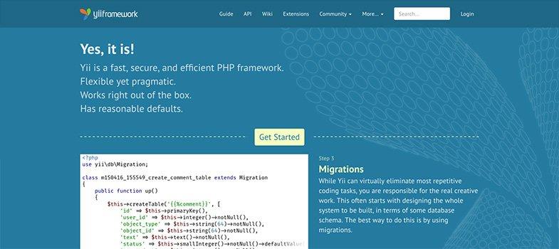 YII PHP framework