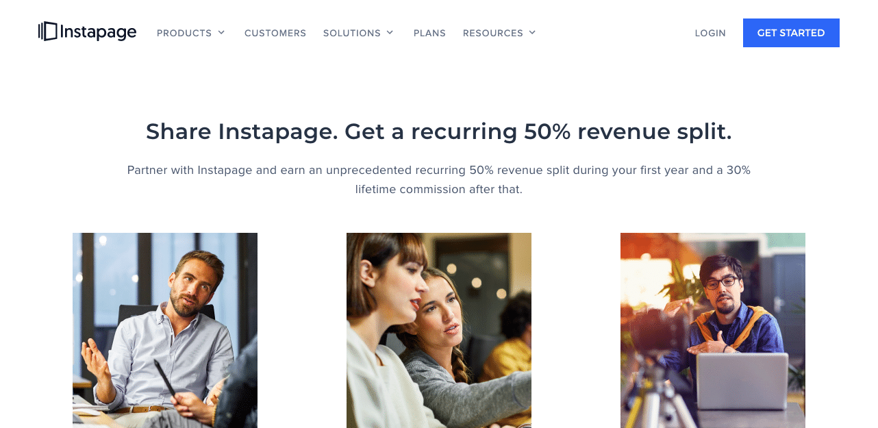 Instapage 50% Recurring Affiliate Commission