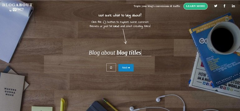 Blog About blog title generator