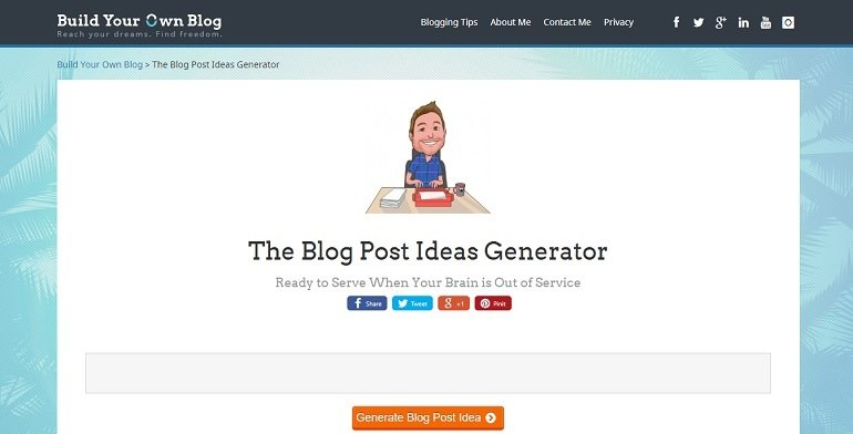 Build Your Own Blog blog title generator