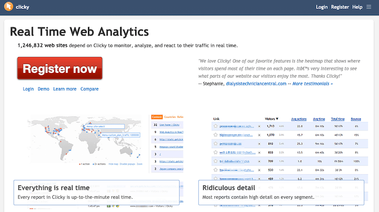 Clicky Real Time Traffic Analysis