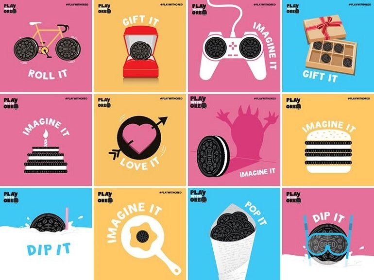 Oreo viral series of images on Facebook