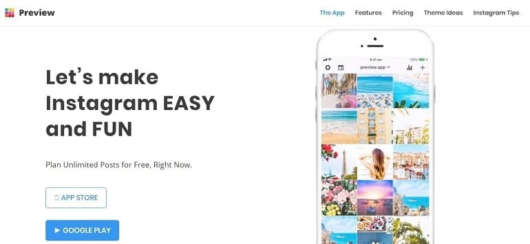 Preview App for Instagram