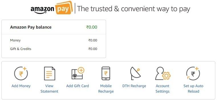 Amazon pay balance money