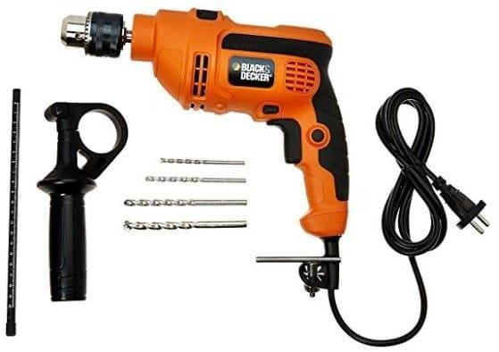Black & Decker KR554RE 550-Watt 13mm Variable Speed Reversible Hammer Drill Machine