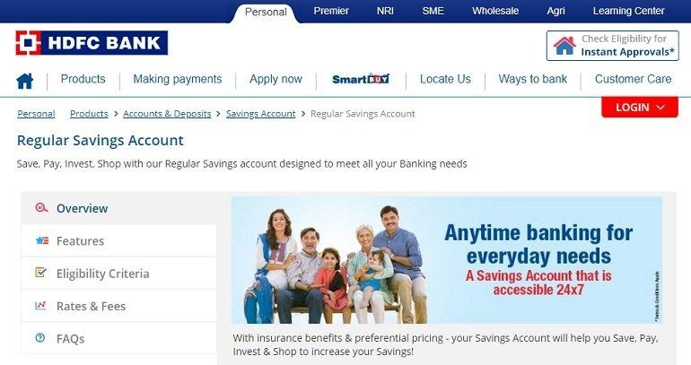 HDFC Bank Regular Savings Account
