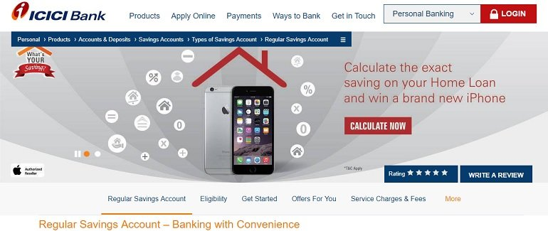 ICICI Regular Savings Account