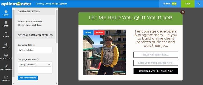 OptinMonster for blogger