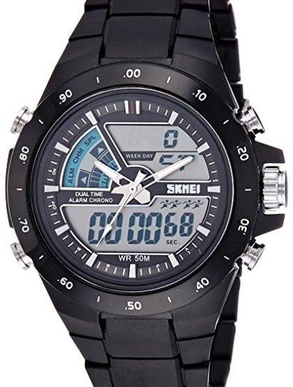 SKMEI Analog-Digital Dial Men's Watch-AD1016 (Black)