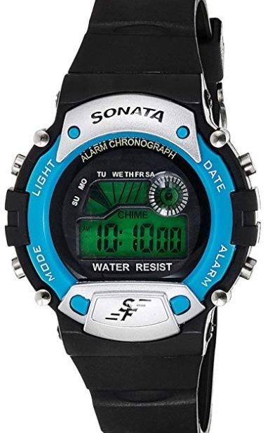 Sonata Digital Grey Dial Men's Watch-NK7982PP04