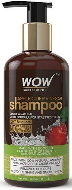 WOW Apple Cider Vinegar No Sulphate and Parabens Shampoo