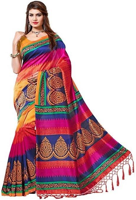 e vastram Women's Mysore Art Silk Saree with Blouse Piece