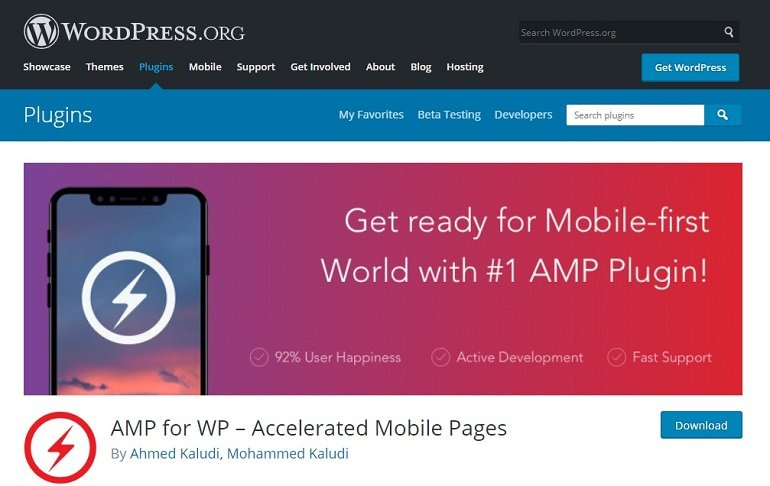 AMP Accelerated Mobile Pages WordPress plugin