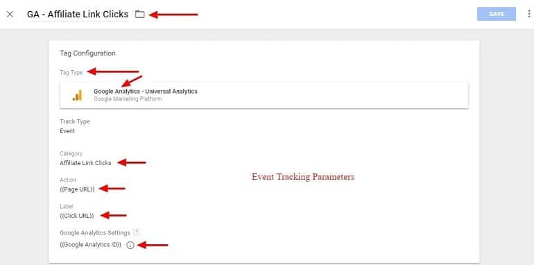 Affiliate link click tag in Google Tag Manager