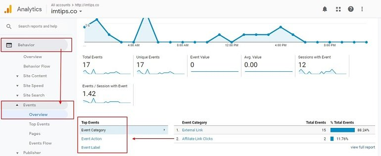 Affiliate link click tracking in Google Tag Manager