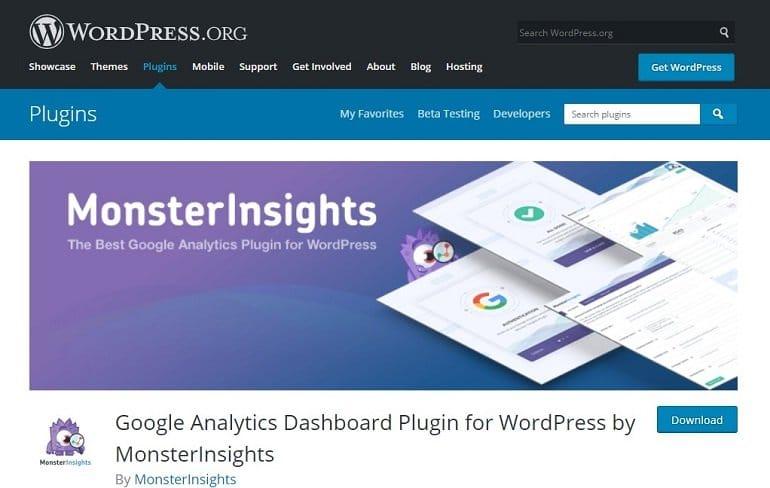 Google Analytics Dashboard WordPress Plugin by MonsterInsights