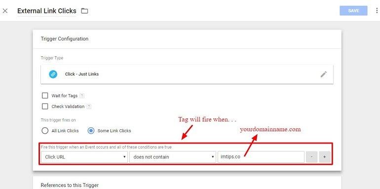 Google Tag Manager trigger configuration