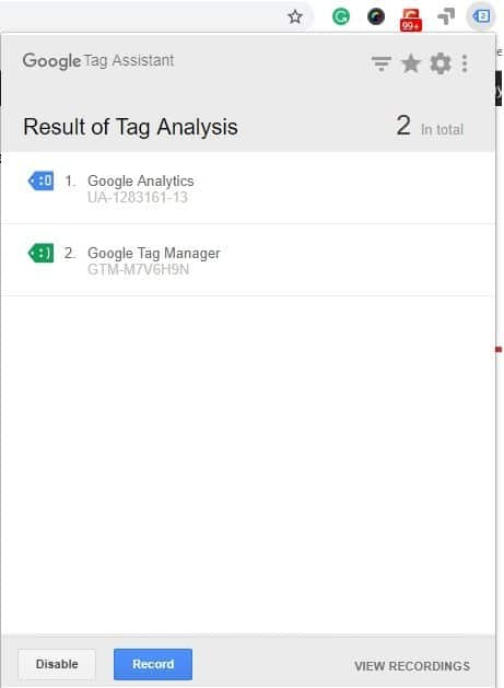 Google tag assistant in google tag manager