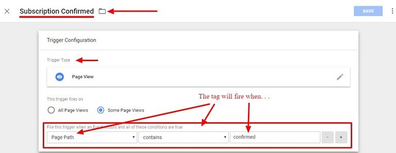 Trigger configuration for Google Ads Conversion in Google Tag Manager