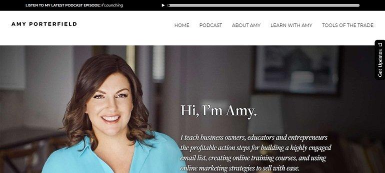 Amy Porterfield social media blog