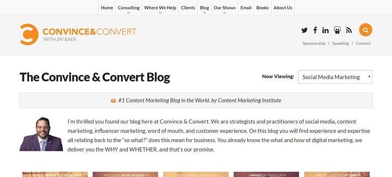 Convince and Convert Social Media blog