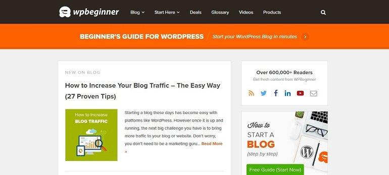 WP beginner blog
