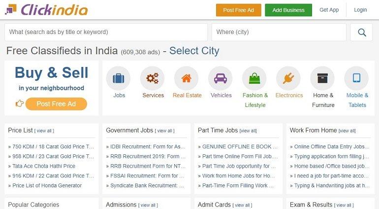clickindia free classified ads