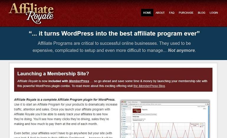 Affiliate royale wordpress affiliate manager plugin