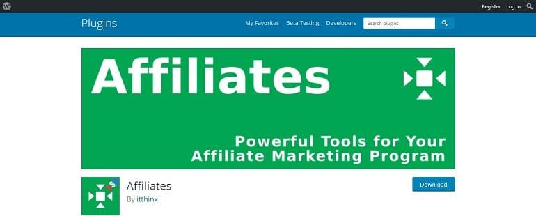 Affiliates affiliate manager wordpress plugin
