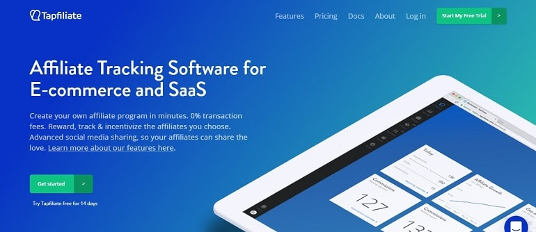 Tapfiliate affiliate manager and tracking software