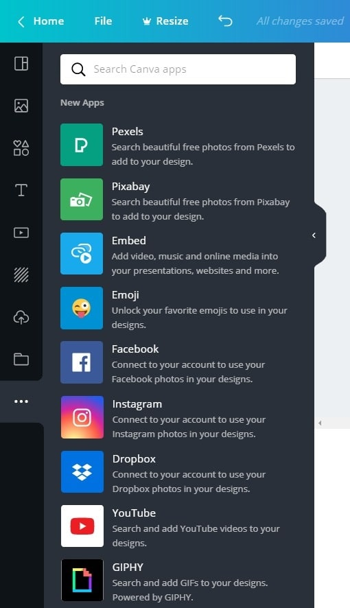 New Apps Integration in Canva