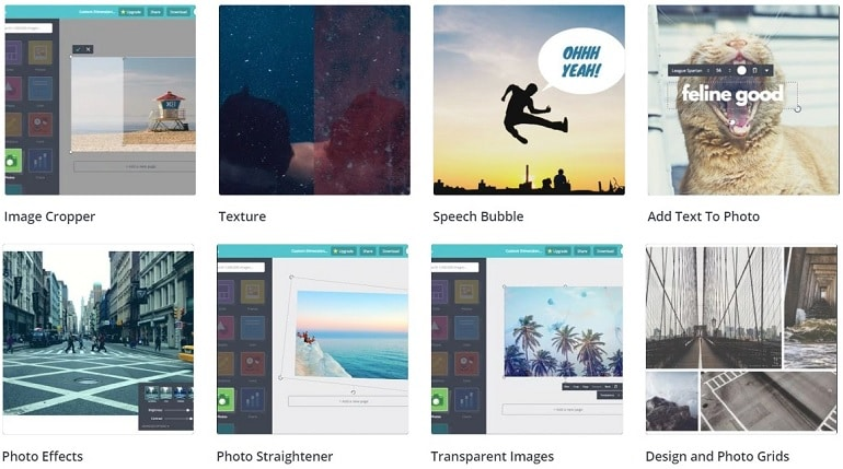Overview of Canva Photo Editing Features