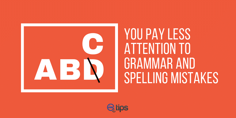 Poor Grammer & Silly Spelling Mistakes