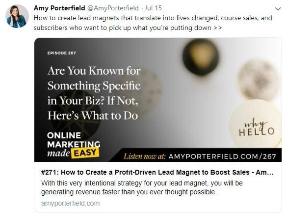 amy porterfield twitter account