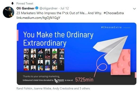 oli gardner twitter account